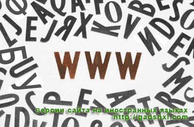 Версии сайта на иностранных языках